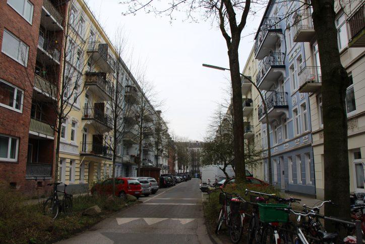 Ein Blick in die Matthesonstraße. Foto: Robin Eberhardt
