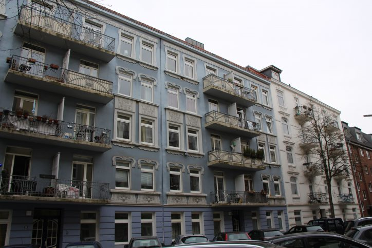 Die Fassaden sind in verschiedenen Farben gehalten. Foto: Robin Eberhardt