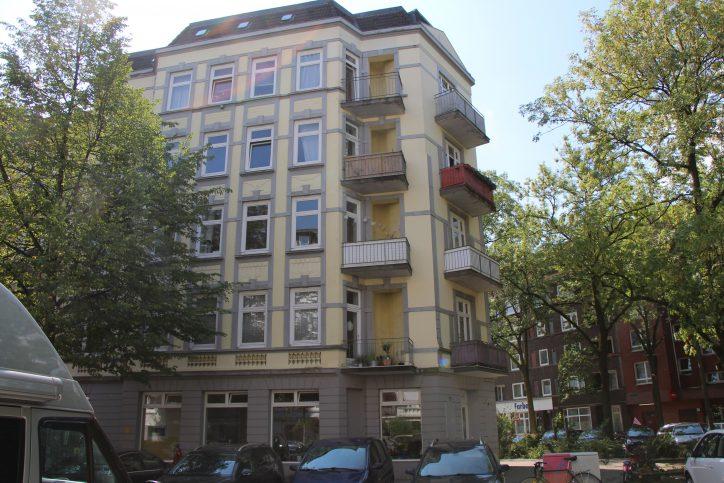 Ein Eckhaus in der Sillemstraße. Foto: Robin Eberhardt