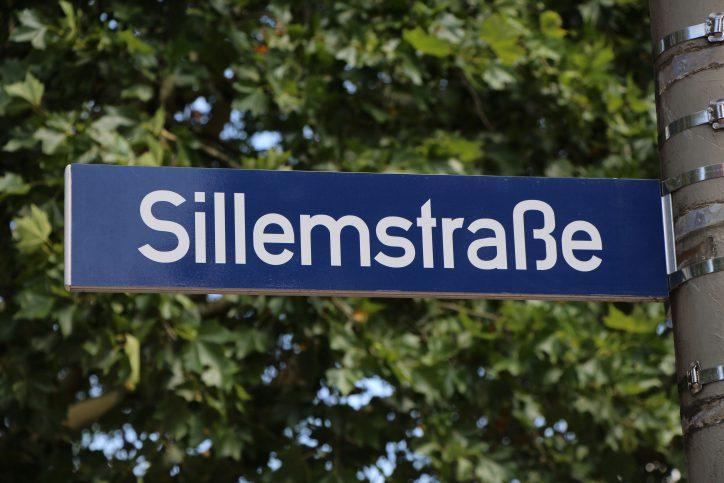 Straßenschild Sillemstraße. Foto: Robin Eberhardt