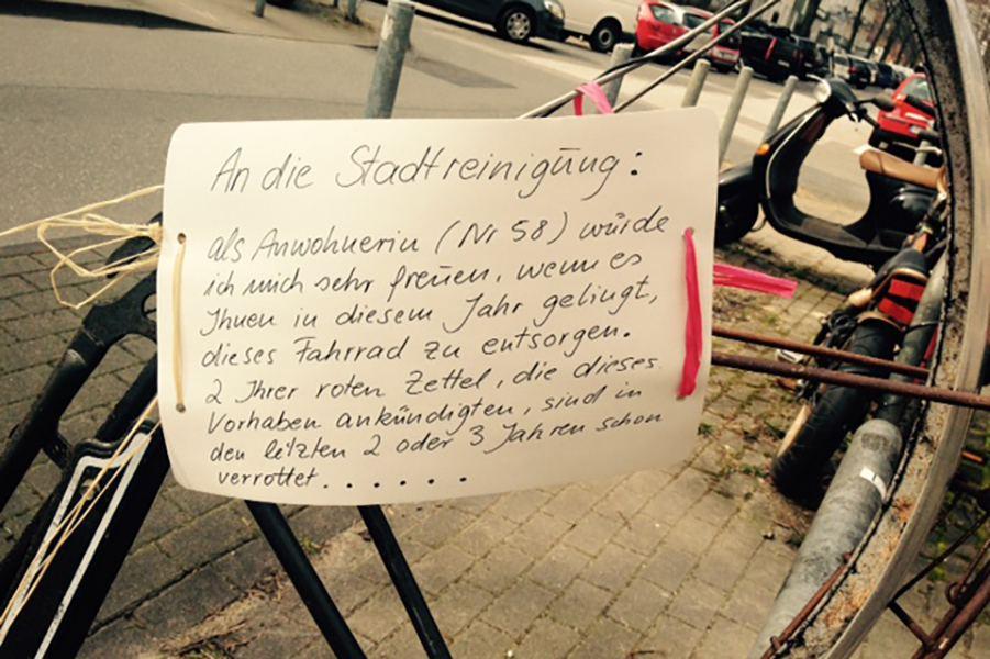#Fahrradklaukarte: Fahrraddiebstahl kann auch witzig