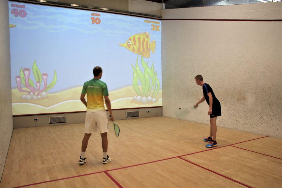 Interactive Squash im Sportwerk Foto: Maximilian Neumann