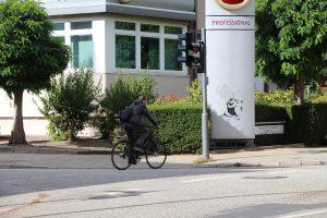 Bei einer Großkontrolle mit dem Schwerpunkt fahrradfahrer wurden über 200 Verkehrsverstöße festgestellt. Foto: Alicia Wischhusen