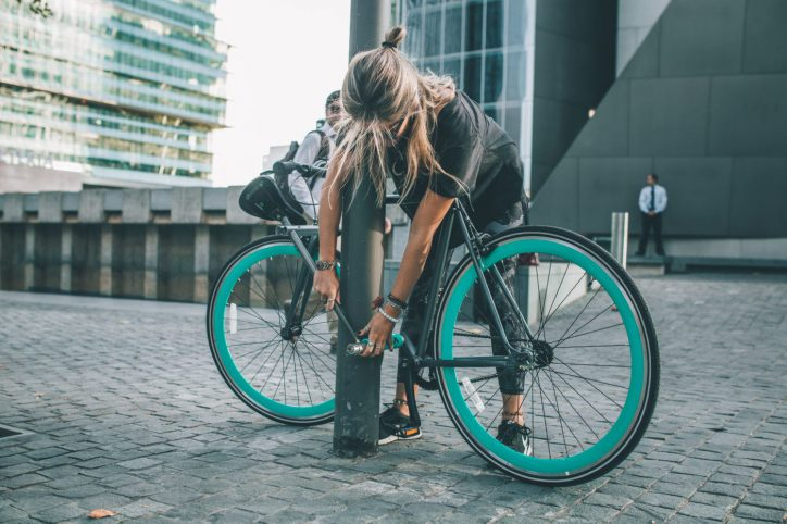 Das Yerka-Bike wird mit wenigen Handgriffen selbst zum Schloss. Foto: Yerkabikes