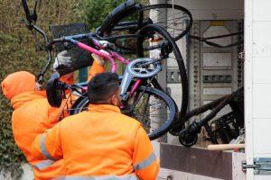 Hamburg Eimsbuettel Fahrradleichen Stadtreinigung