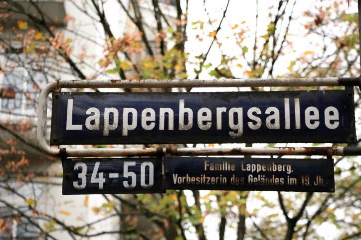 Lappenbergsallee Straßenschild