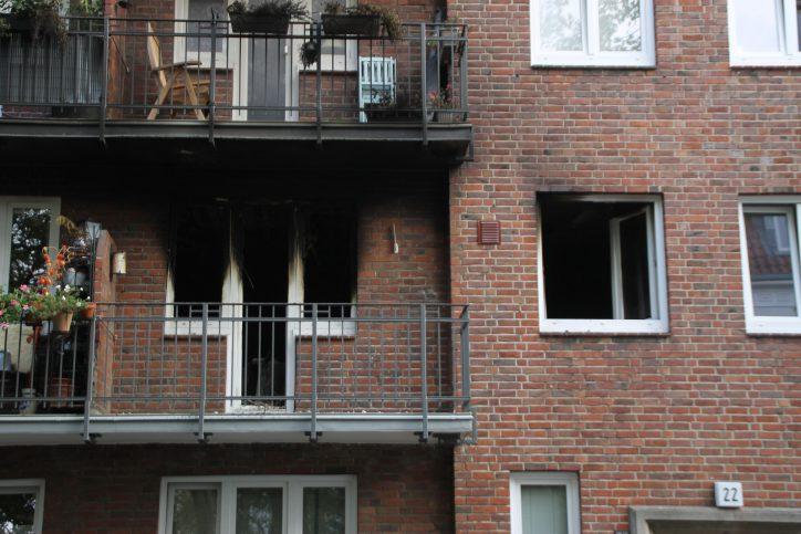 Hilferufe bei Wohnungsbrand in der Kottwitzstraße