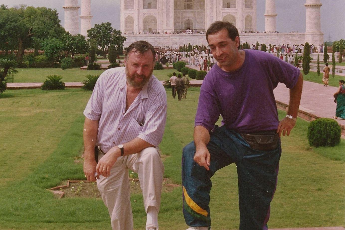 Viele Geschäftsreisen gingen nach Indien. Hier vor dem Taj Mahal. Foto: Dieter Schreck