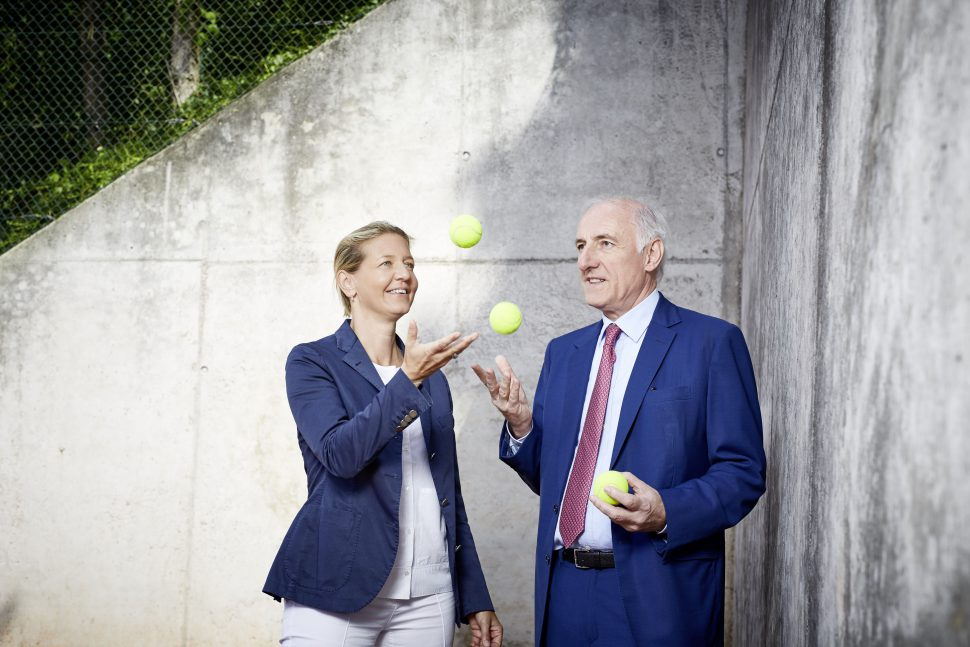 Die neuen Lizenzinhaber der ersten Tennis Europameisterschaft in Hamburg: Sandra und Peter Michael Reichel. Foto: Reichel Business Group