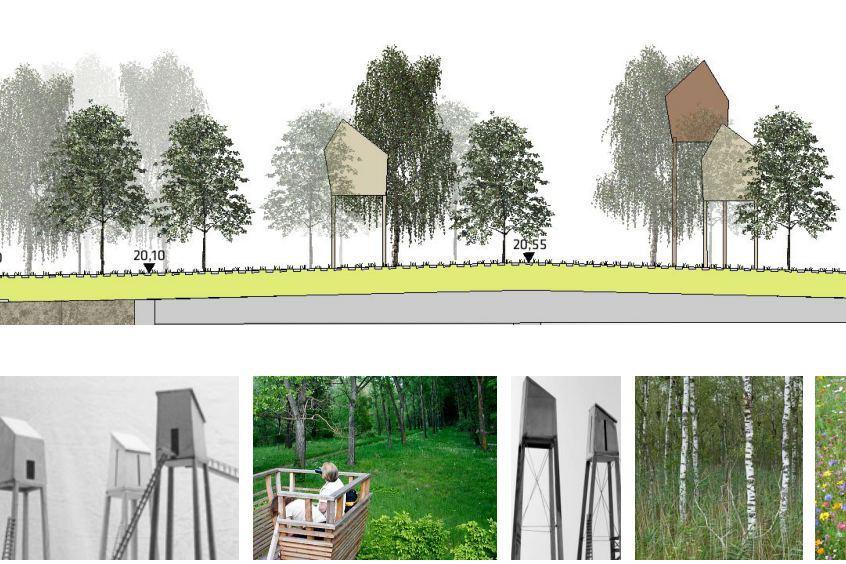 Diese Aussichtsplattformen sind für den Schnelsener Deckel geplant. Foto: POLA Landschaftsarchitekten