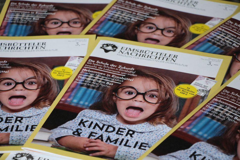 """Magazin 15: Sonderausgabe """"Kinder und Familie"""". Foto: Catharina Rudschies"""