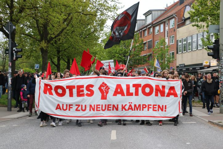 Demonstration der Antifa Altona Ost. Foto: Niklas Heiden