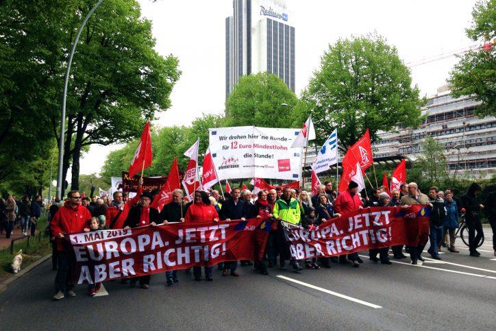 Die Demonstration der Antifa Altona Ost in der Altonaer Straße. Foto: Niklas Heiden