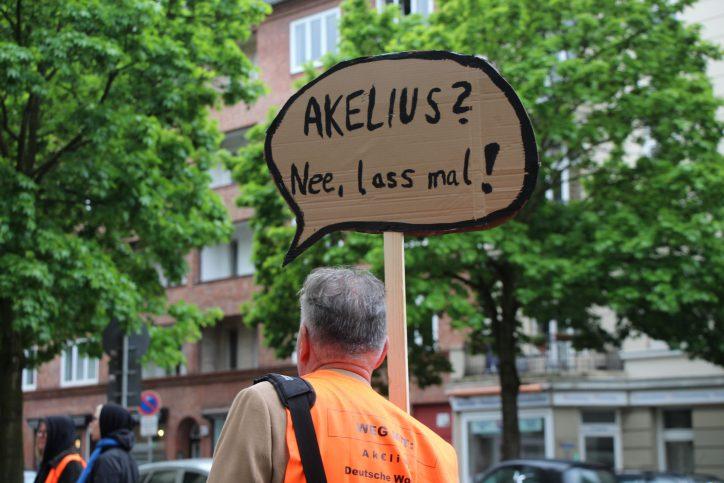 Mieterinitiative Akelius Mietenmove 2019. Foto: Vanessa Leitschuh
