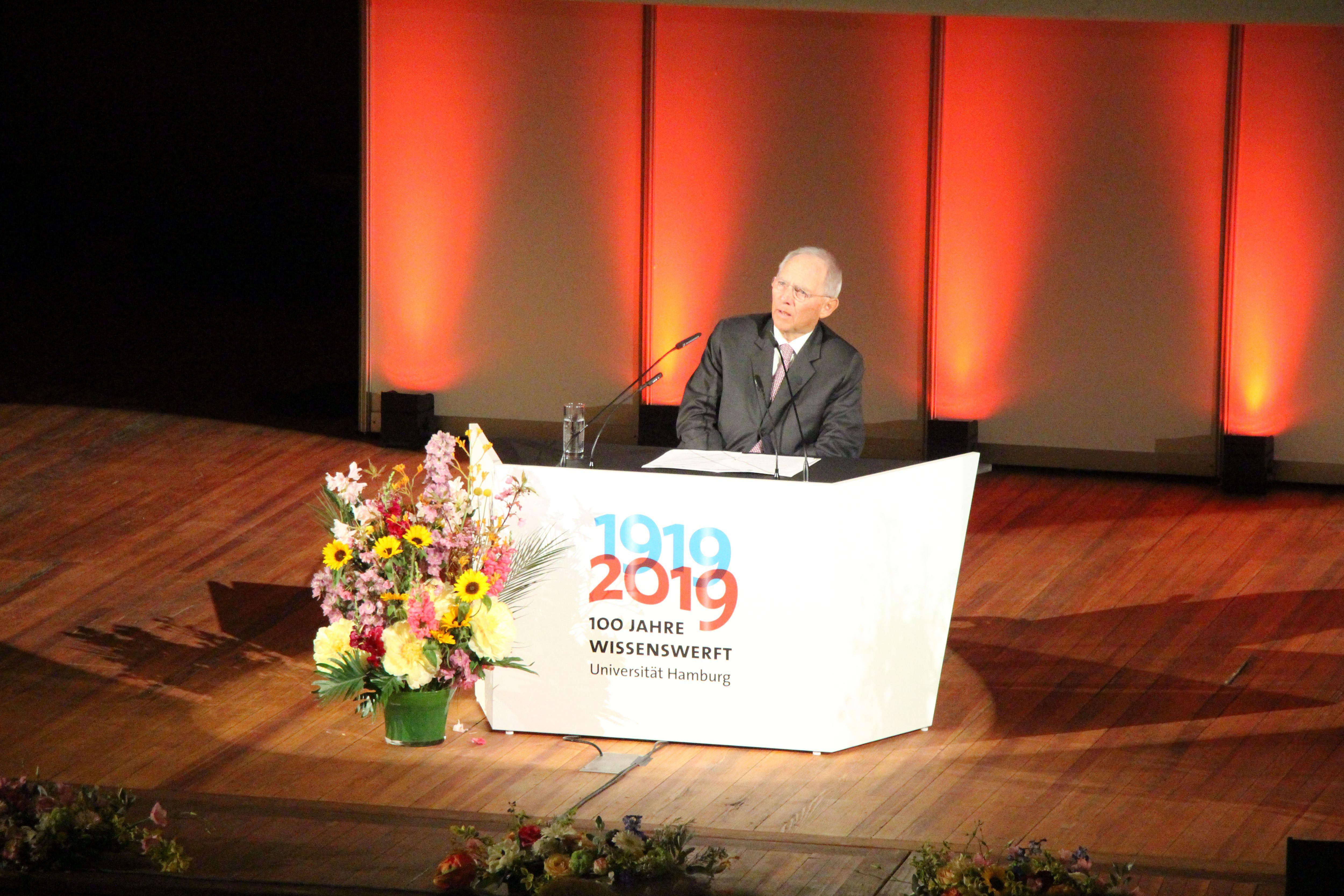 Auch Wolfgang Schäuble hat zwei Semester an der Uni Hamburg verbracht. Foto: Alicia Wischhusen