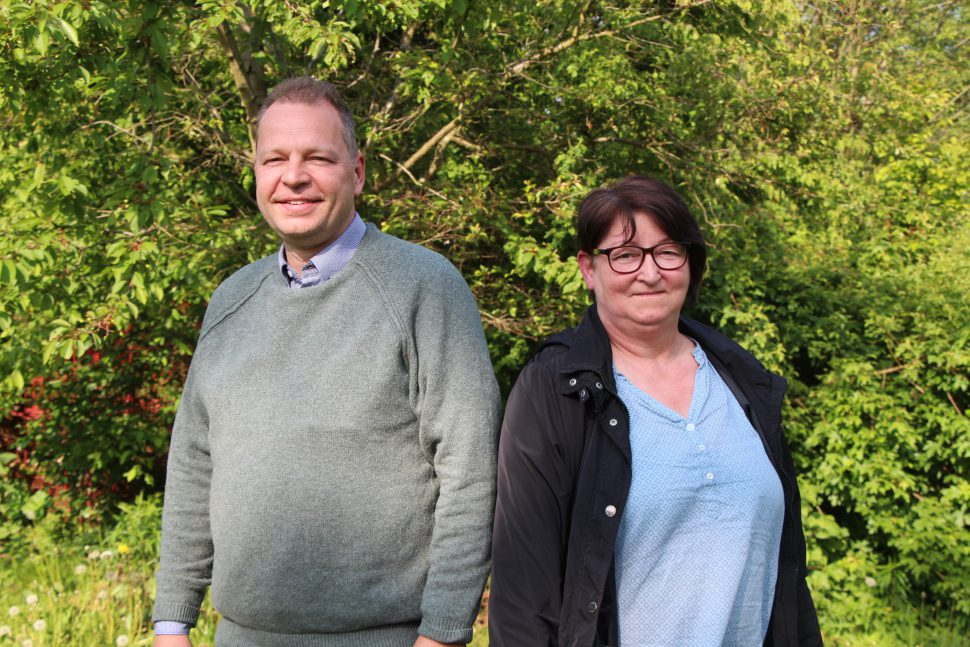 Rüdiger Kuhn, CDU und Manuela Pagels, Die Linke. Foto: Catharina Rudschies