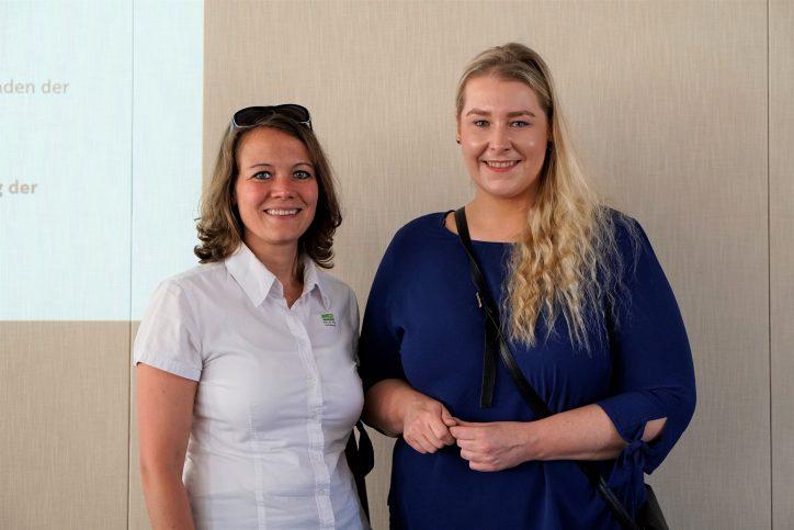 Neu gewählt: Vorsitzende der Bezirksversammlung Eimsbüttel Miriam Putz und eine ihrer Stellvertreterinnen Dagmar Bahr. Foto: Catharina Rudschies
