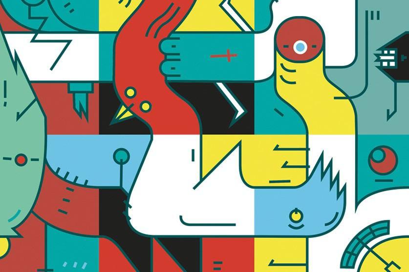 Czinczoll arbeitet viel mit Farben und Formen. Illustration: David Czinczoll