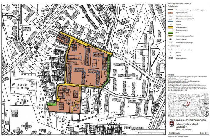 Planskizze Lokstedt 67. Quelle: Freie und Hansestadt Hamburg