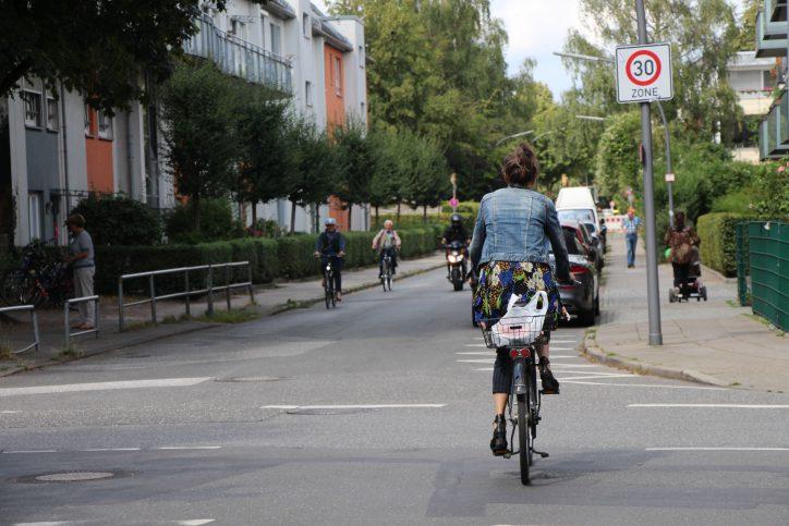 Teile der Högenstraße werden bald zu einer Fahrradstraße. Foto: Catharina Rudschies