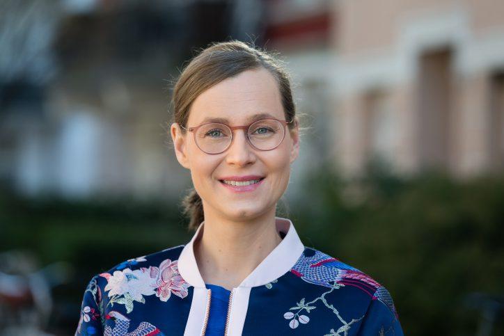 Lisa Kern, Fraktionsvorsitzende der Grünen Eimsbüttel spricht sich für ein Bündnis mit der CDU aus. Foto: Henning Angerer