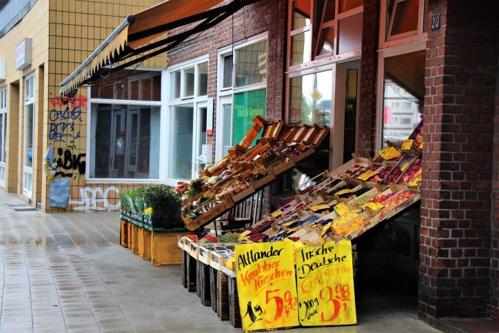 Ein Obst- und Gemüseladen im Heußweg. Symbolfoto: Catharina Rudschies