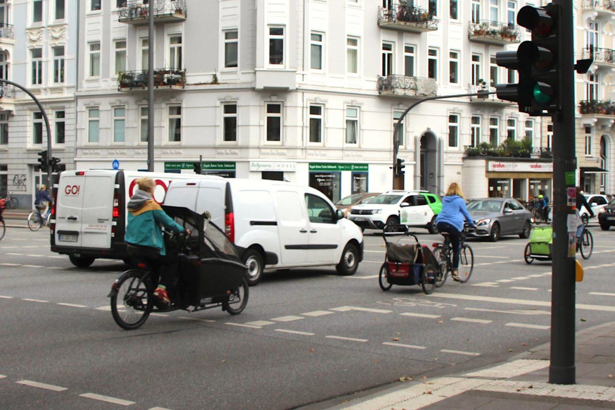 Die Eimsbütteler setzten bereits auf Lastenräder. Foto: Bianca Multerer