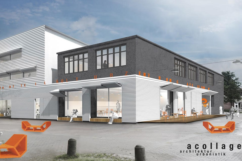 Das Bürgerhaus in Eidelstedt wird saniert und erweitert. Visualisierung: Acollage Architektur Urbanistik