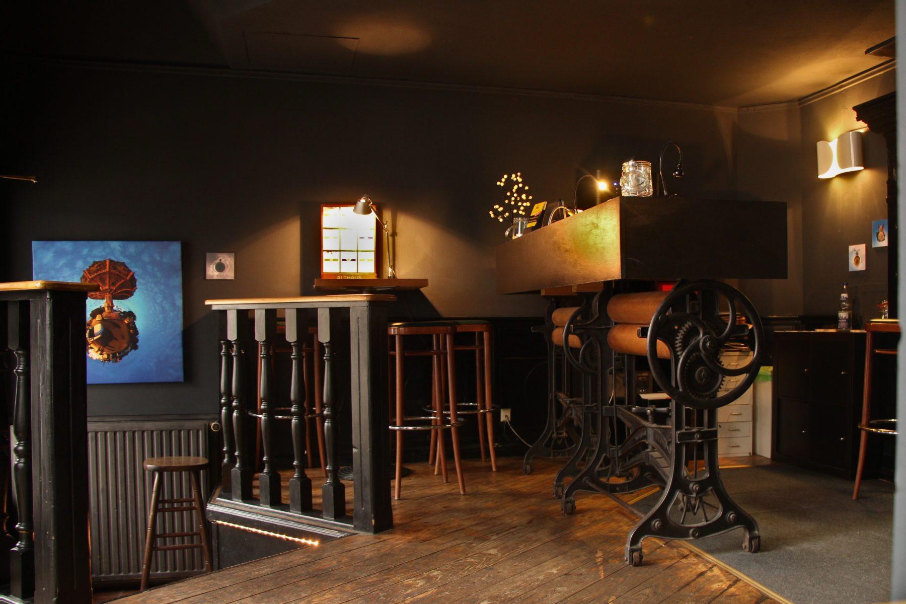 """Der Empfang der """"unsicht-Bar Hamburg"""". Foto: Vanessa Leitschuh"""