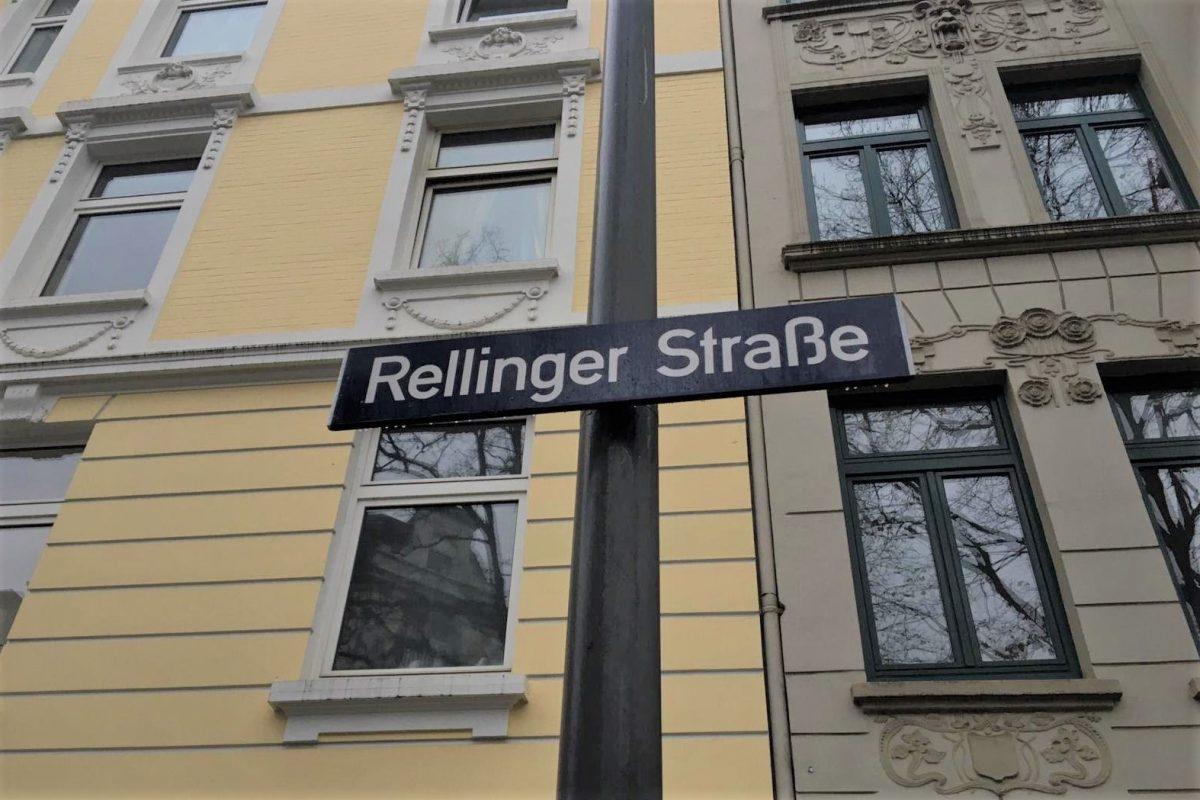 Die Rellinger Straße in Eimsbüttel.