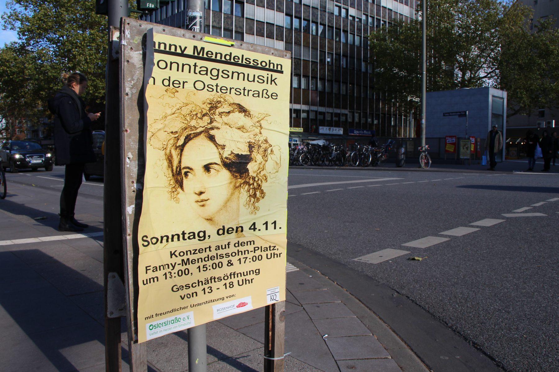 Verkaufsoffener Sonntag Plakat vom 4. November 2018. Foto: Fabian Hennig