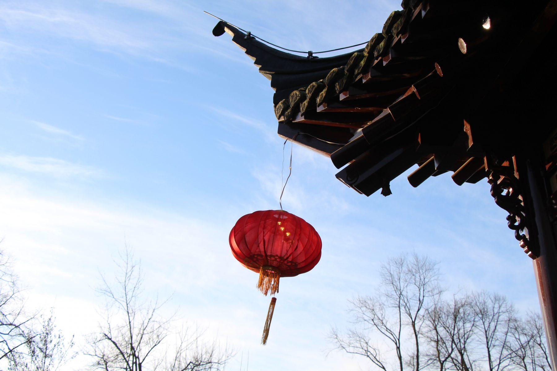 Ein Lampion im Wind. Foto: Sophia Kleiner