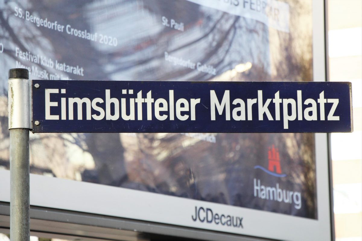 Straßenschild Eimsbütteler Marktplatz