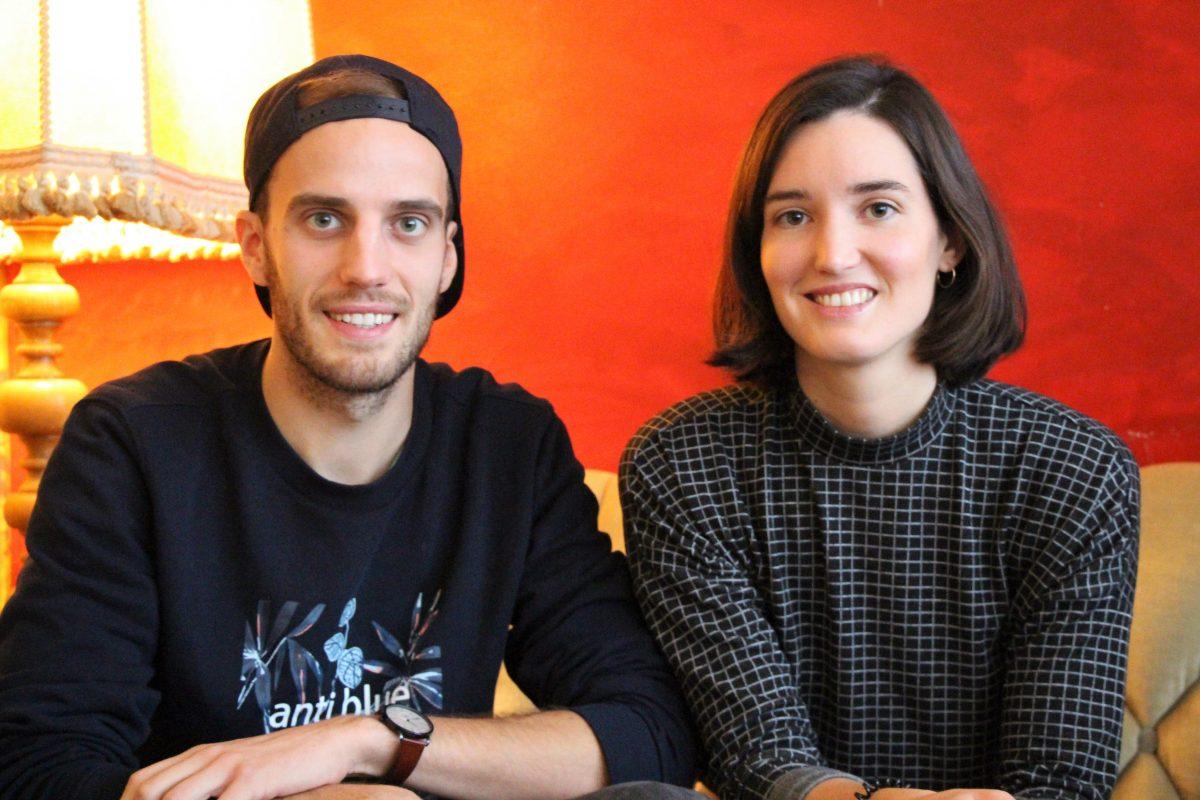 """Die Gründer Niklas Heinzerling und Leonie Eißele wollen mit ihrem Start-up """"The Closest Loop"""" nachhaltige Alternativen zu Alltagsprodukten bieten. Foto: Vanessa Leitschuh"""
