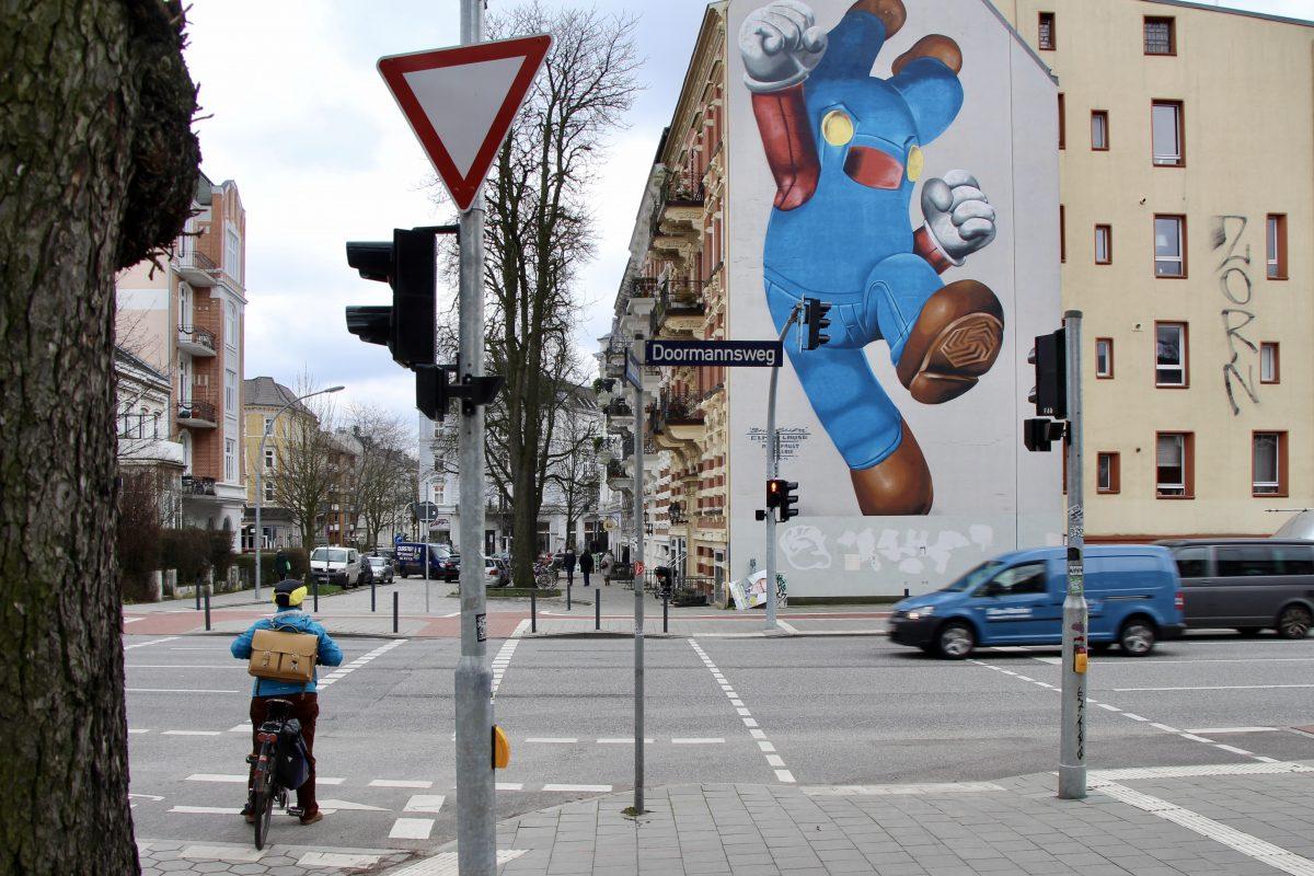 Die Unfallkreuzung Tornquiststraße/Doormannsweg.