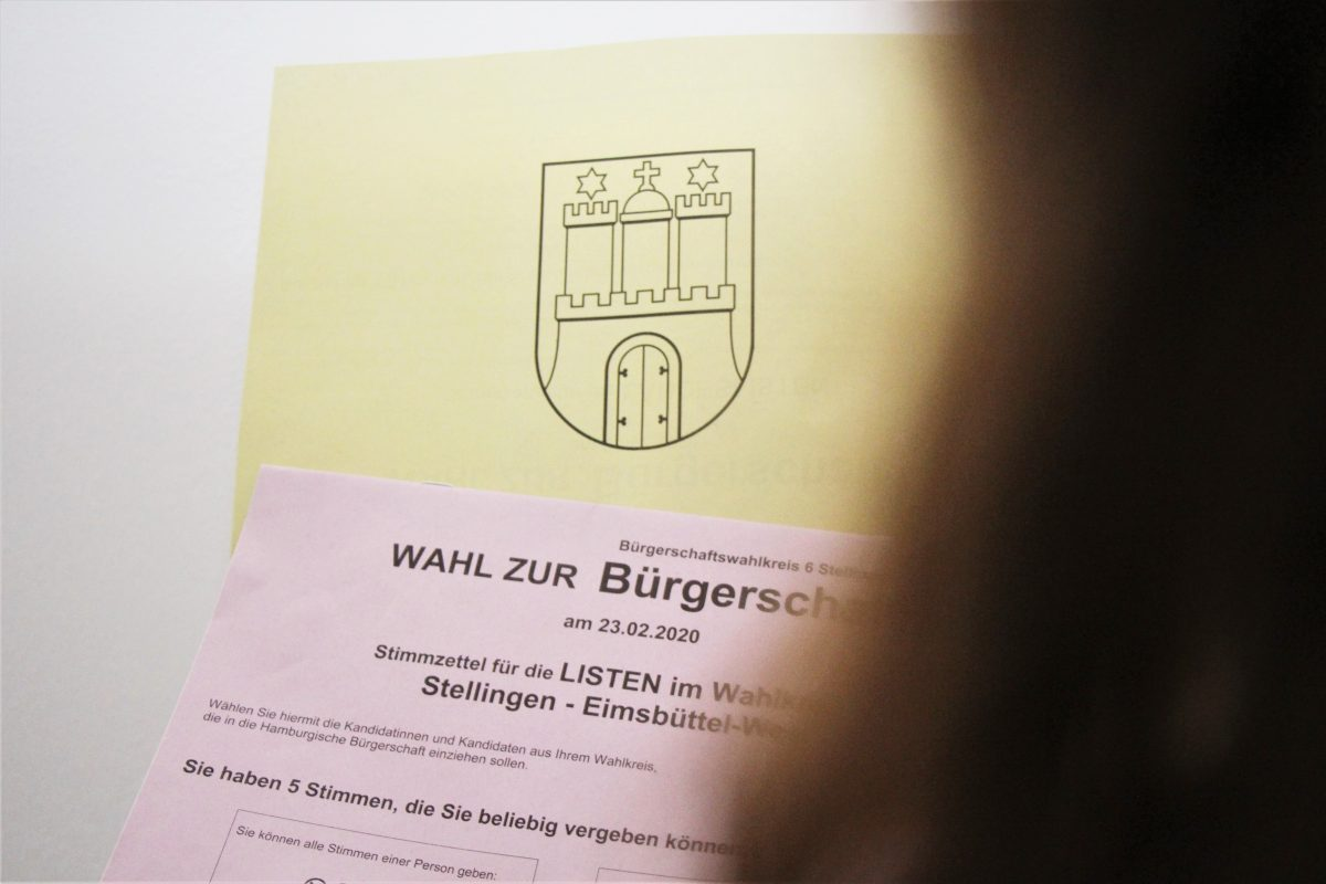 Im Wahlbüro Langenfelder Damm vertauschte der Wahlvorstand Stimmzettel. Foto: Vanessa Leitschuh