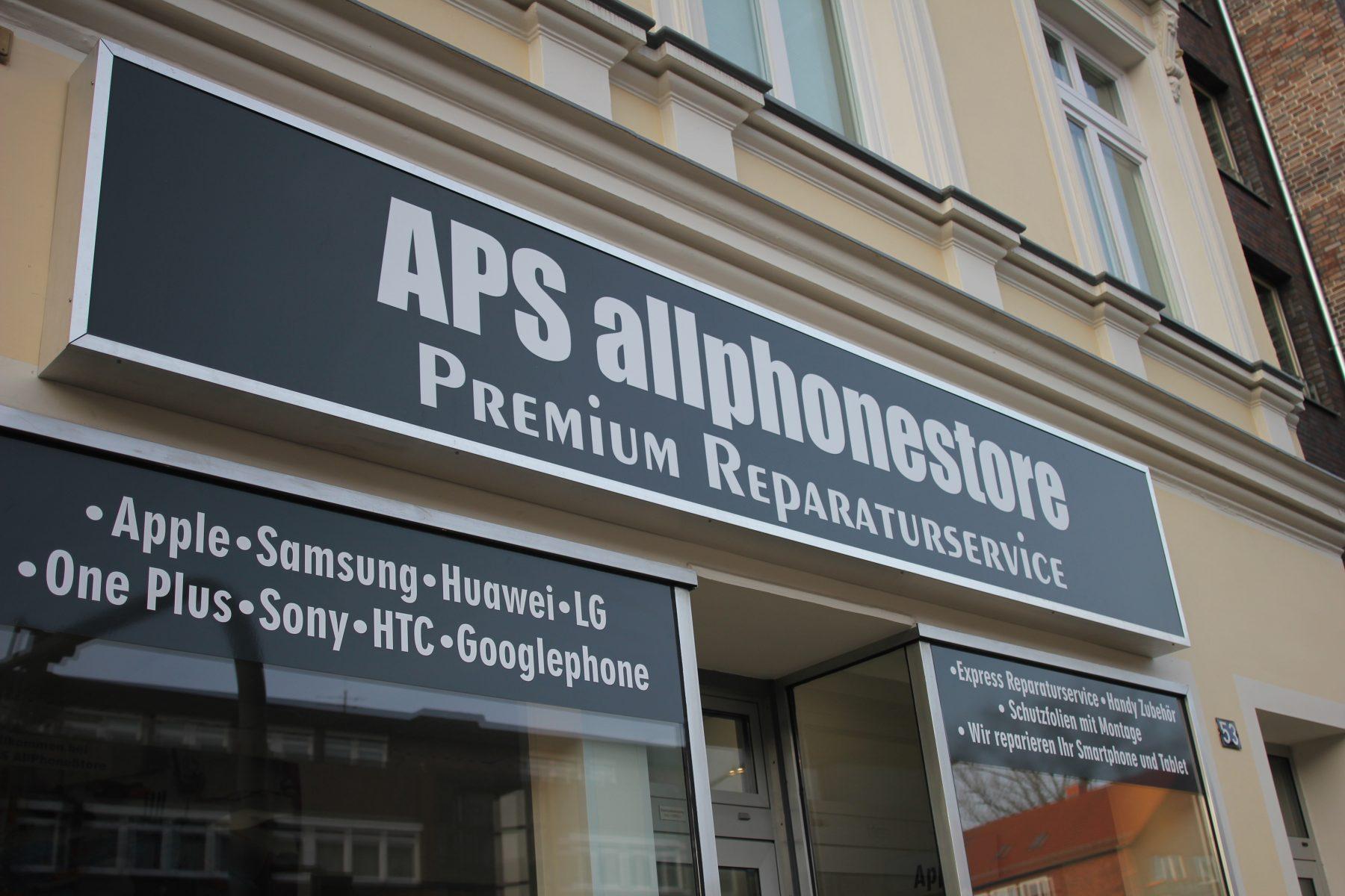 Der APS AllPhoneStore bietet Handyreparaturen an. Foto: APS AllPhoneStore