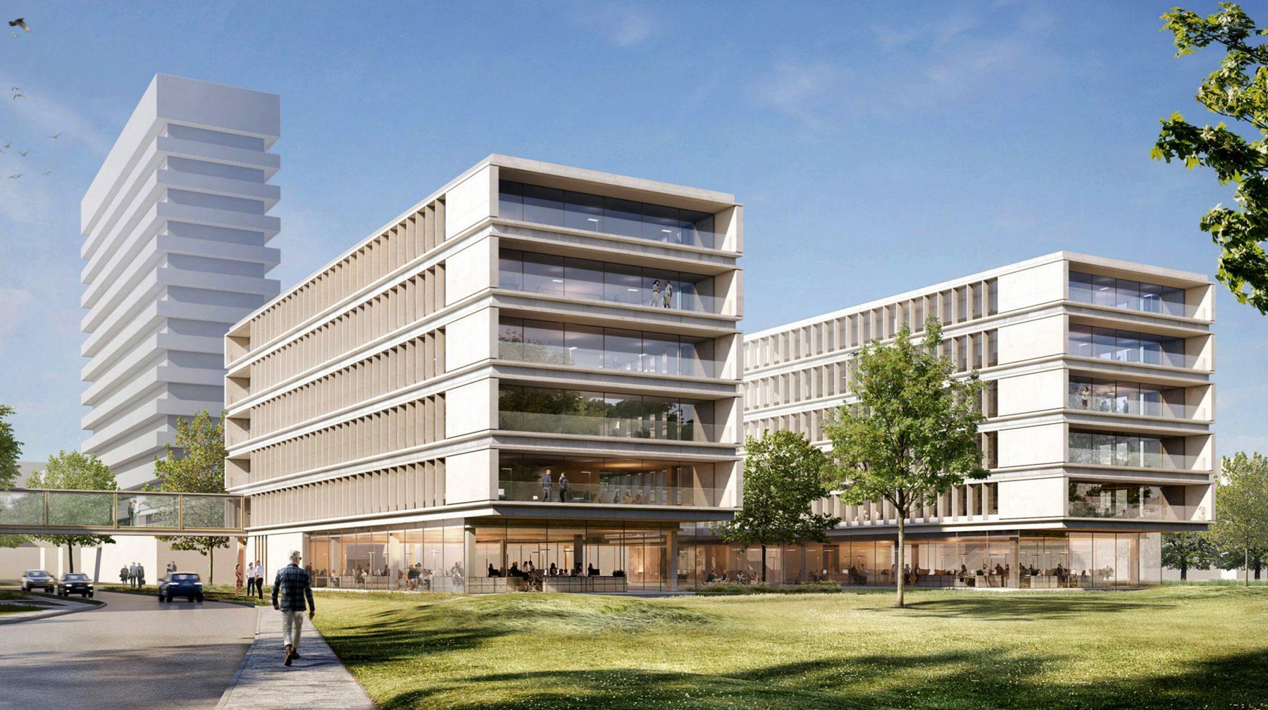 Der NDR Neubau bietet Platz für mehr als 550 Arbeitsplätze. Foto: NDR/gmp