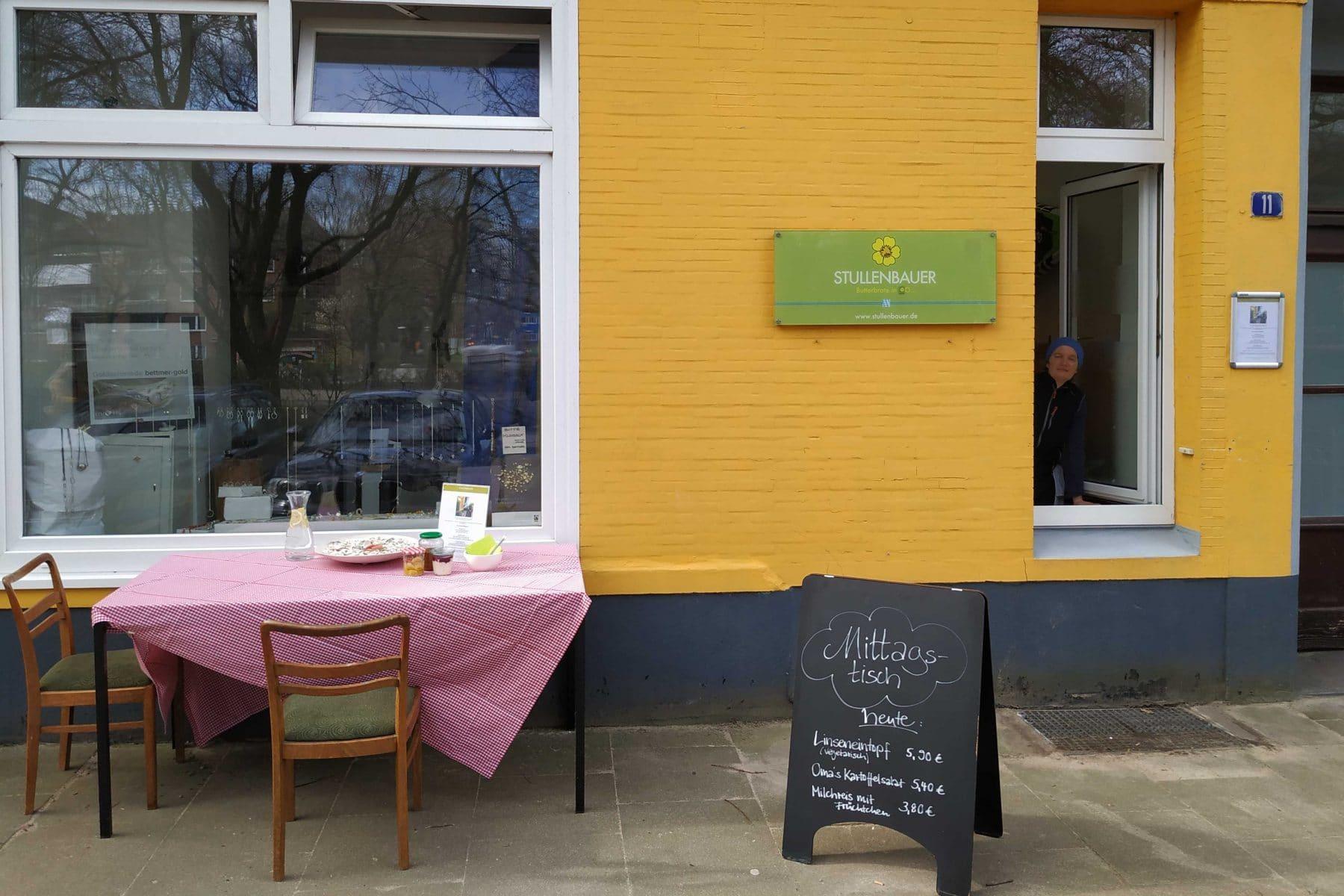 So sieht die Mittagstischklappe beim Stullenbauer aus. Foto: Eimsbütteler Nachrichten