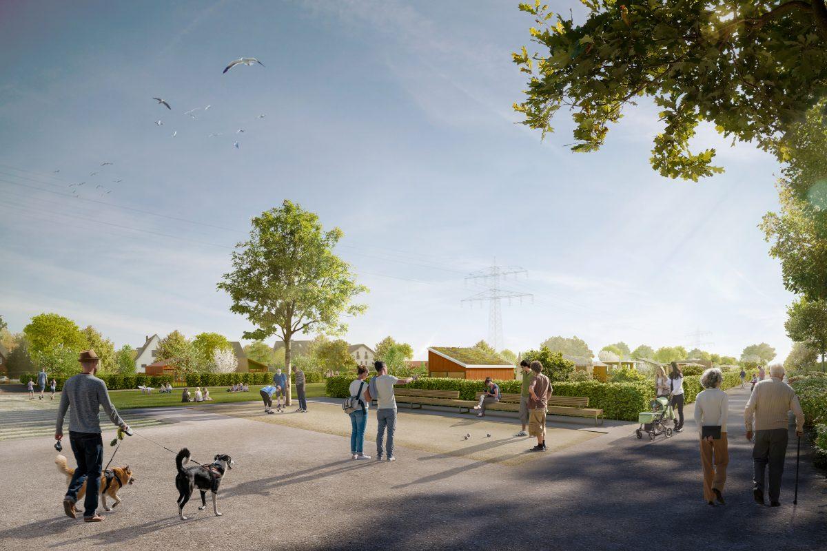 So soll die neue Espanade mit integrierten Kleingärten aussehen.