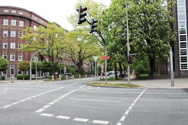 Der Fahrradunfall ereignete sich an der Kreuzung Bogenstraße/Schlankreye. Foto: Marianne Bruhns