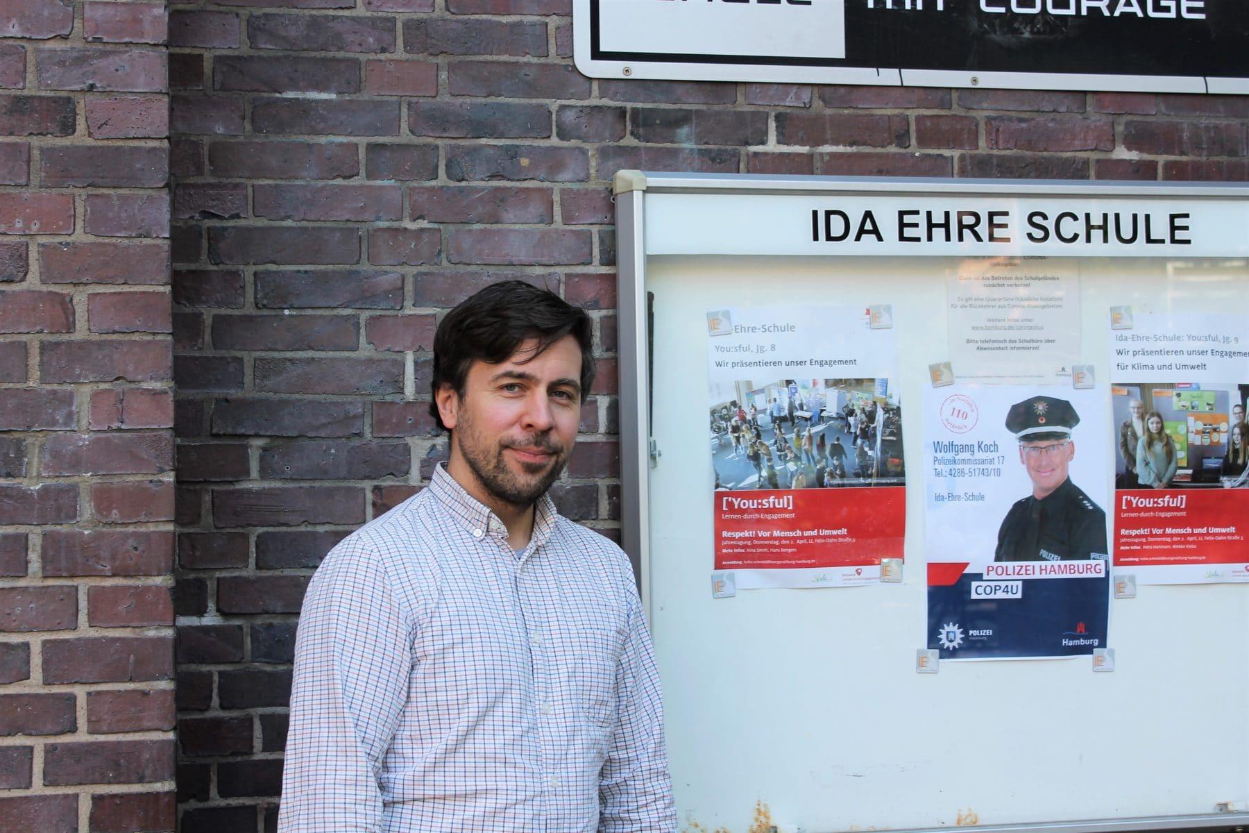 Sebastian von Hase, Musiklehrer und Initiator des Projekts an der Ida Ehre Schule. Foto: Marianne Bruhns