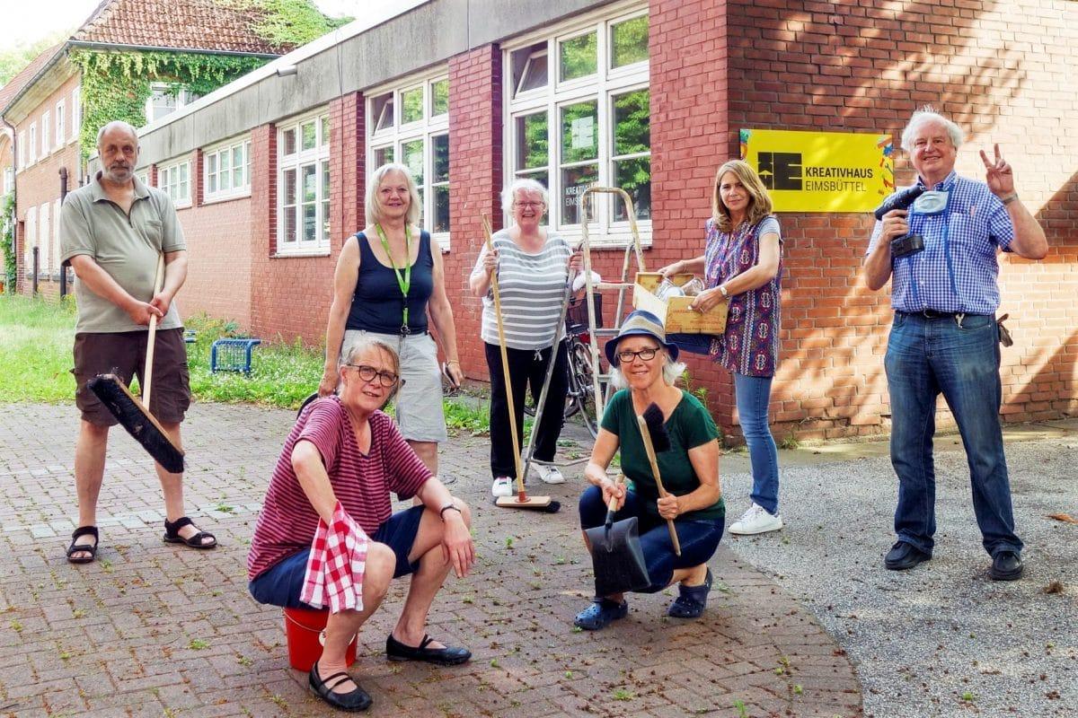 Grosse Putzaktion nach Corona im Kreativhaus Eimsbuettel. Foto: Frederika Hoffmann