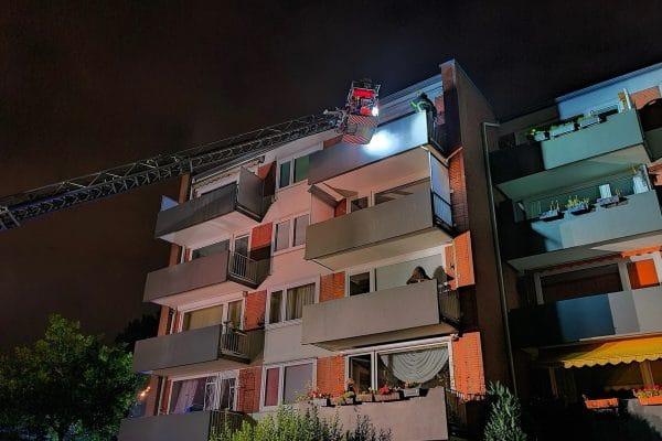 Die Feuerwehr war rund zwei Stunden im Einsatz.