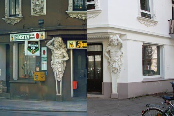 Rellinger Straße 1977 und 2020