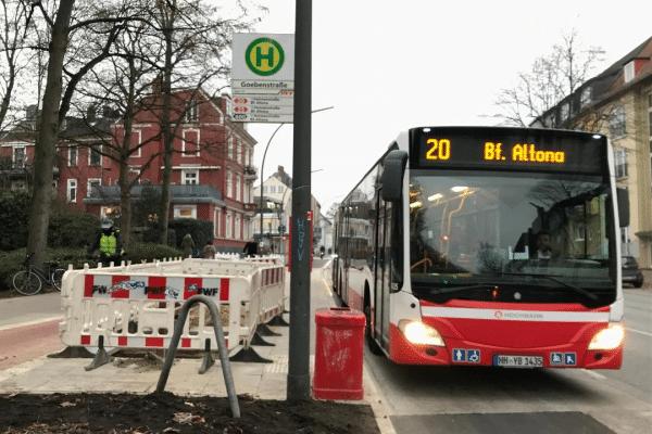 Bushaltestelle Goebenstrasse