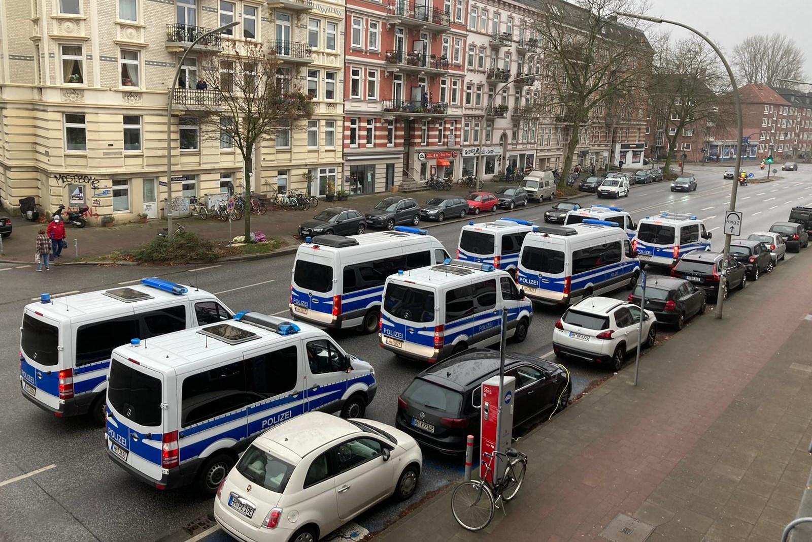 Antifa Demo Polizei