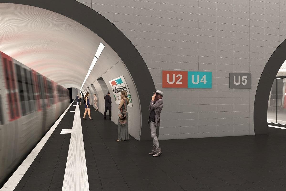Am Hauptbahnhof sollen alte Bestandsröhre der U2 für die neue Linie genutzt werden.