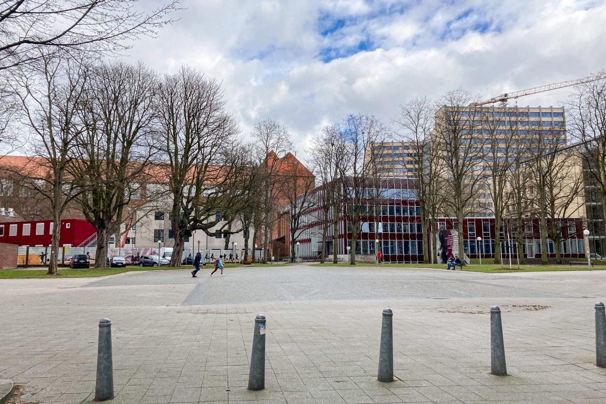 Am Joseph-Carlebach-Platz soll die Bornplatzsynagoge wiederaufgebaut werden.