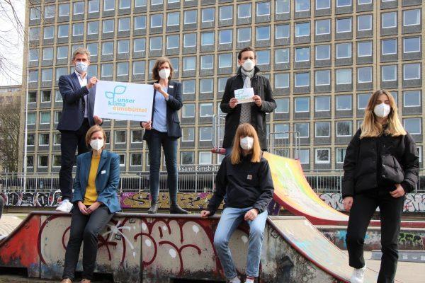 """Die Band """"Tonbandgerät"""" unterstützt die Eimsbütteler Klimapolitik. Foto: Lukas Görlitz"""
